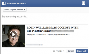 Robin Williams video facebook