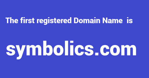 the frst domain name, what is the first domain, internet history, internet facts, the first website, world's first website, internet historical facts, billion internet facts