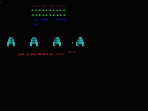 Linux Games From Command Box Ninvaders-500x375